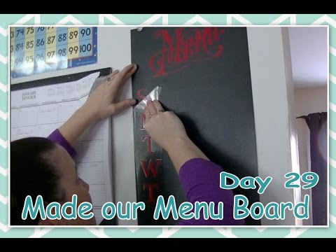 Made our Menu Board - Daily Vlogging (Jan 29, 2017)