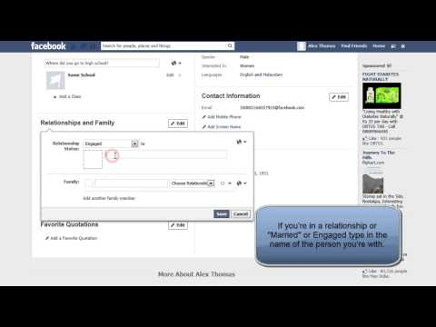HOW TO ADD OR CHANGE RELATIONSHIP STATUS ON FACEBOOK TIMELINE