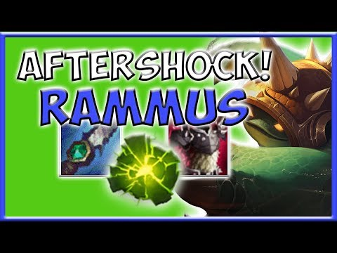 RAMMUS JUNGLE AFTERSHOCK! - Preseason 8 Season 8 s8 Patch 7.22 Gameplay w/ Commentary Guide