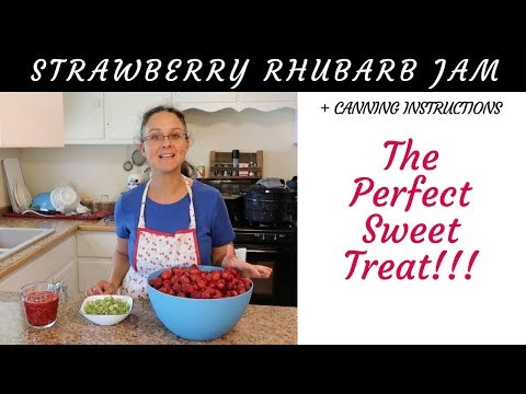 Homemade Strawberry Rhubarb Jam!!! With Canning Instructions