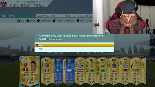 OMG NO LOOK DISCARD PACKS GONE WRONG !!! FIFA 16 TOTS