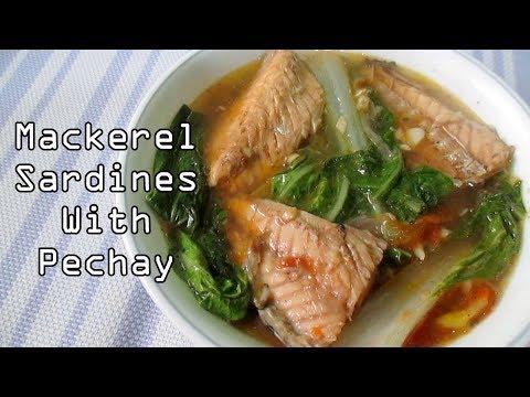 Mackerel Sardines With Pechay