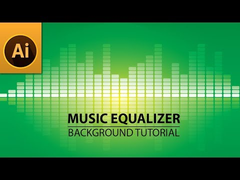 Music Equalizer Background - Illustrator Tutorial