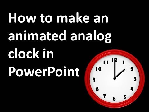 How to animate an Analog Clock on PowerPoint