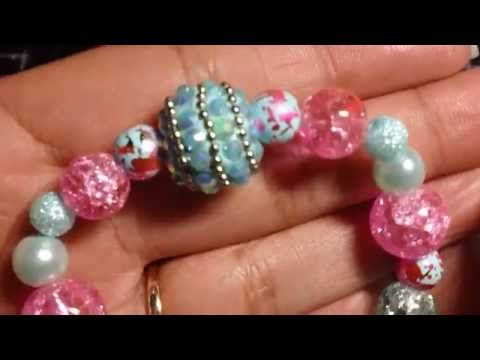 Beaded Stretchy Bracelets and Key Chains!