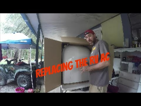 Replacing the RV roof top Dometic AC Unit