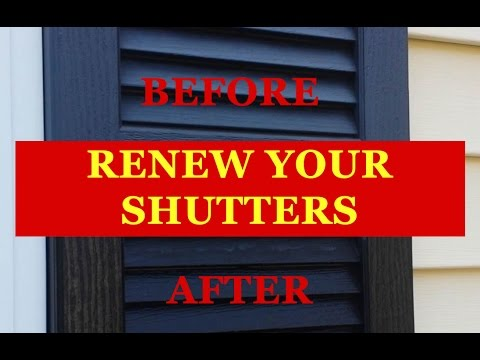 Low Cost Renew Faded Vinyl Shutters Rejuvenate Shutter Renu Restore No Painting Vinyl Shutter Saver