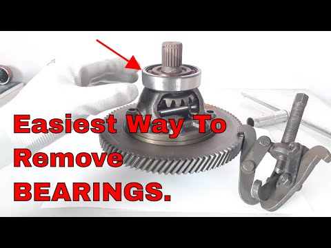 How To Remove Old Bearings,Easiest Way.