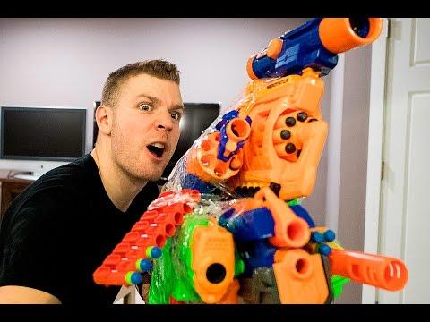 NERF WAR: WORLD'S BEST ILLEGAL NERF GUN GAME MASTER MOD EVER (NERF VS BUZZBEE)