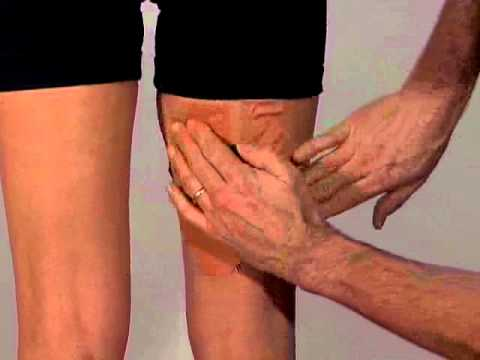 Effective Sports Taping for a muscle pull, tear or strain