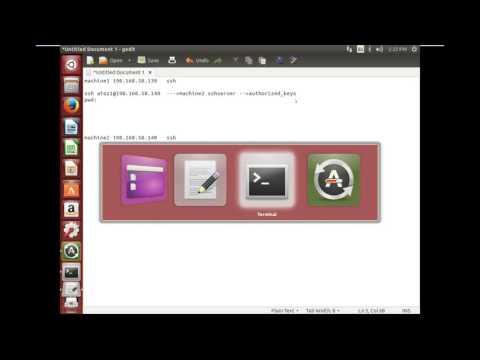 Linux ssh (secure shell) remote communication password less