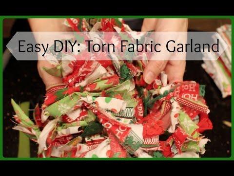 Super Easy DIY:Torn Fabric Garland