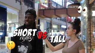 DO GUYS PREFER SHORT OR TALL GIRLS 👀 Public interview