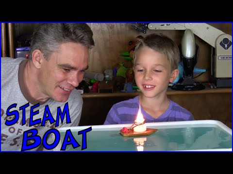 How to make a simple toy steam boat - Make Science Fun
