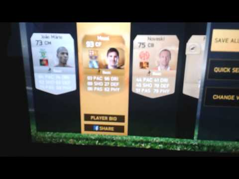 Messi in a pack ios fifa 15