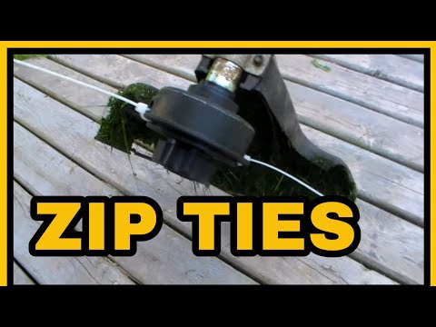 DIY CHEAP Whipper Snipper Zip Tie Line