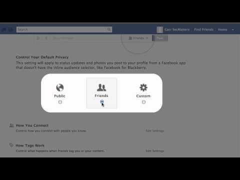 Facebook: Changing your privacy settings