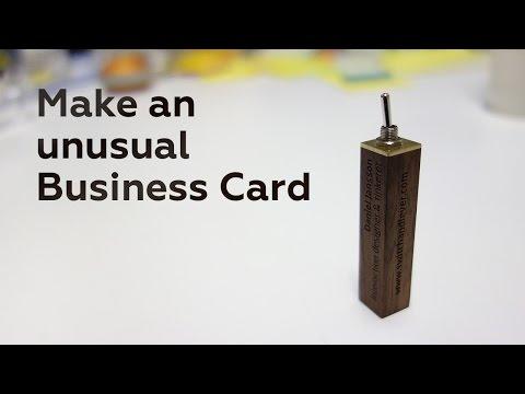 Make an unusual Business Card