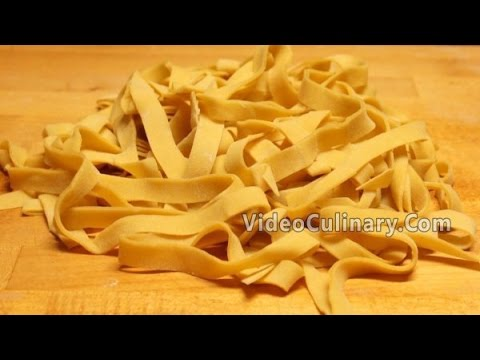 Fresh Yolk Pasta Dough Recipe (Hand Cut) - Video Culinary