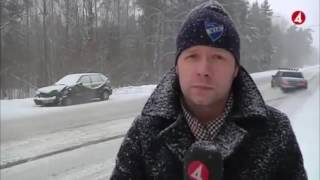 Live news photobombed by a drifting Volvo 740