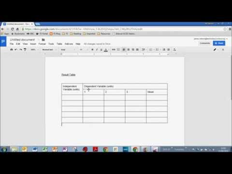 Insert a Simple Results Table into Google Docs