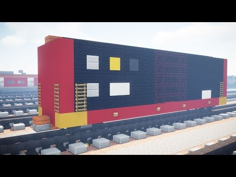 Minecraft Norfolk Southern Safety Train Boxcar Tutorial