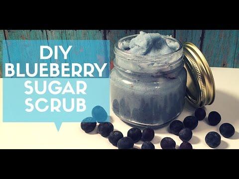 DIY Blueberry Sugar Scrub