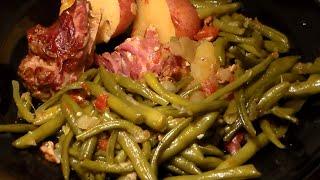 Soul Food Southern-Style Green Beans, Turkey Necks & Potatoes: String Beans Recipe
