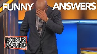 STEVE HARVEY CAN'T BELIEVE THESE ANSWERS ON FAMILY FEUD!