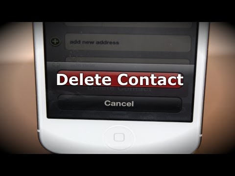 How To Delete iPhone Contacts - How To Use The iPhone 5
