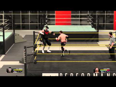WWE 2K15 Performance Center Outside Ring Glitch