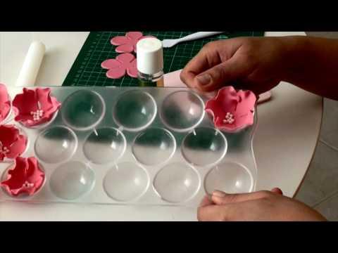 TUTORIAL Simple Single Petal Rose Gumpaste Fondant for Cake