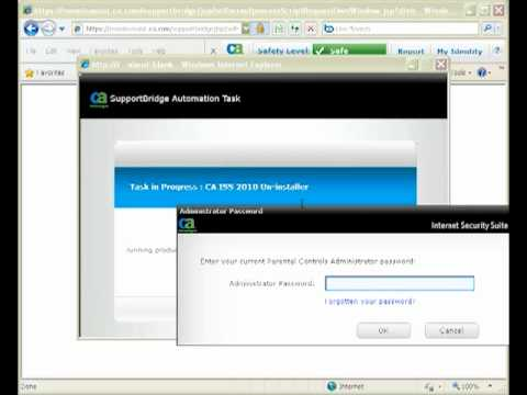How to run the uninstallation script to uninstall security suite