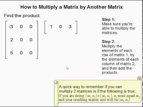 How to Multiply a Matrix by Another Matrix