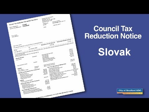 Council Tax Reduction Notice (Slovak)