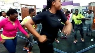 Kwangwaru dance at Troy's gym by Diamond ft Harmonizes