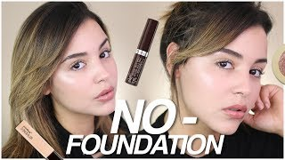 NO-FOUNDATION  MAKEUP ROUTINE USING DRUGSTORE PRODUCTS! | NO MAKEUP MAKEUP LOOK!