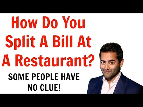 How to split a bill at a restaurant