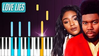 "Khalid & Normani - ""Love Lies"" Piano Tutorial - Chords - How To Play - Cover"