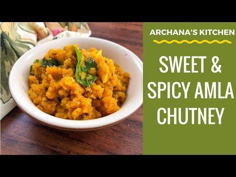Sweet and Spicy Amla Chutney Video - Breakfast Recipes By Archana's Kitchen
