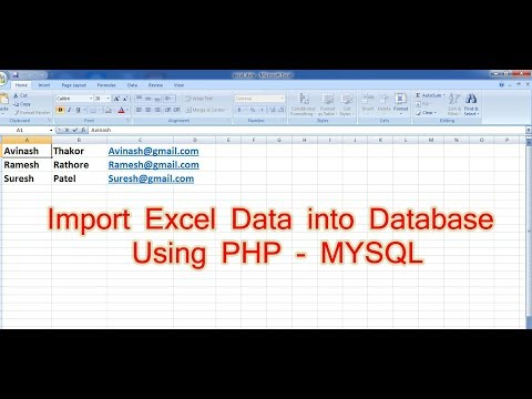 how to import excel data into mysql database using php