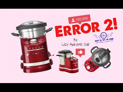KitchenAid cook processor ARTISAN - How to fix ERROR 2 ERREUR 2 Slicer