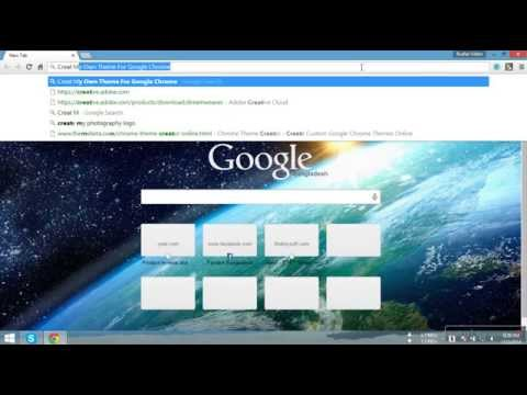 Create Your Own Theme For Google Chrome