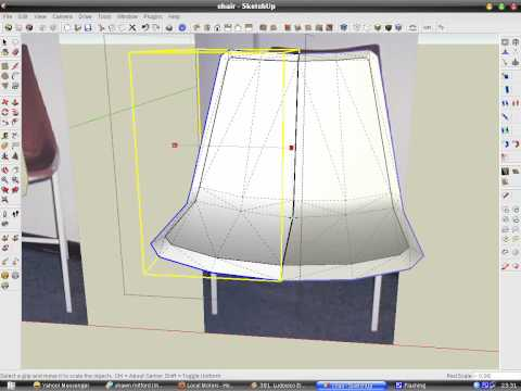 Modeling a chair skin in SketchUp