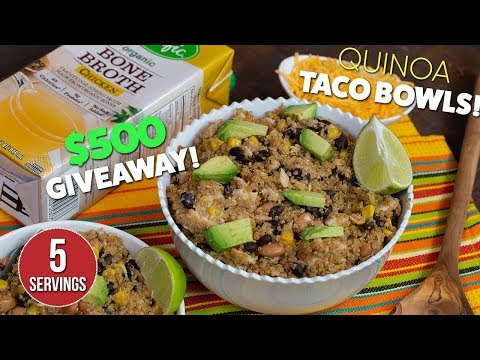 Protein Packed Spicy Quinoa TACO Bowls Recipe