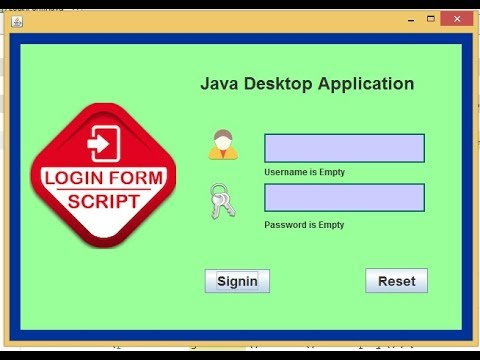 Form validation in java (Check if input fields are empty)