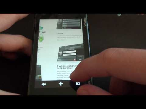 Nokia N900 PR 1.2 - nowa funkcja przeglądarki