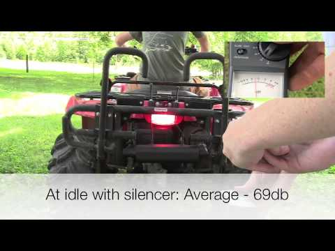 Silent Rider ATV Sound Comparison - Noise Reduction - Quiet Exhaust Muffler