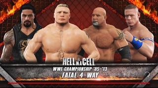WWE 2K17-Brock Lesnar vs Roman Reigns vs John Cena vs Goldberg -Fatal 4-Way for WWE Championship