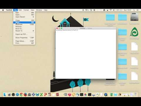 Create a .txt file extension on Mac